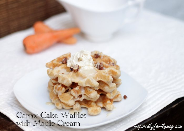 carrot cake waffles recipe