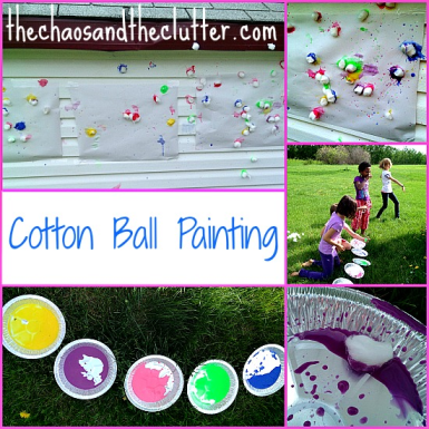 cotton ball painting