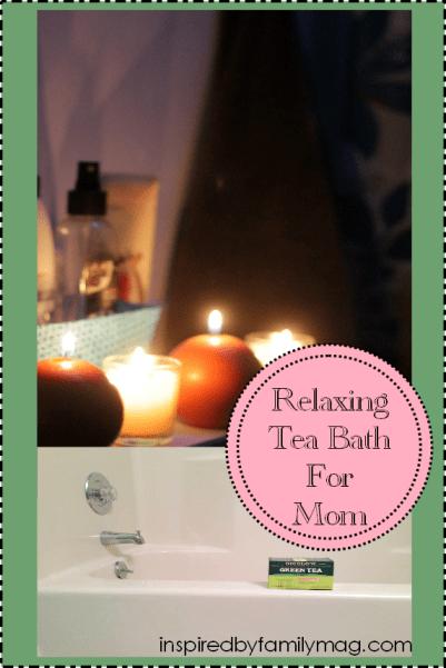 relaxing tea bath