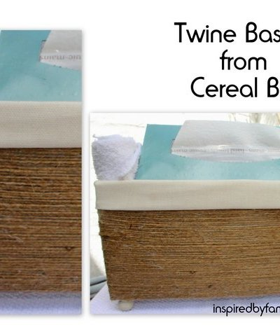 DIY Baskets From a Cereal Box