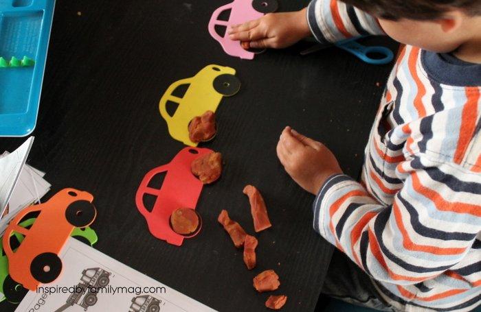car playdough activity