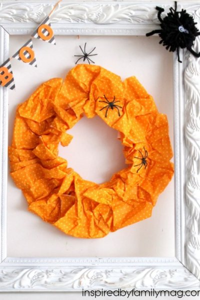 Halloween Decor: Boo Wreath