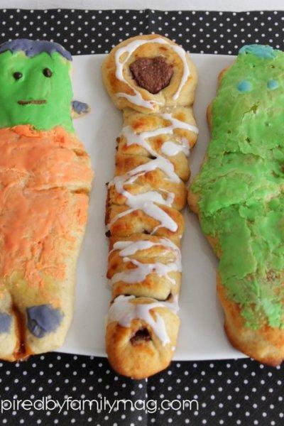 Nutella Stuffed Bread: Frankenstein, Mummy & Zombie