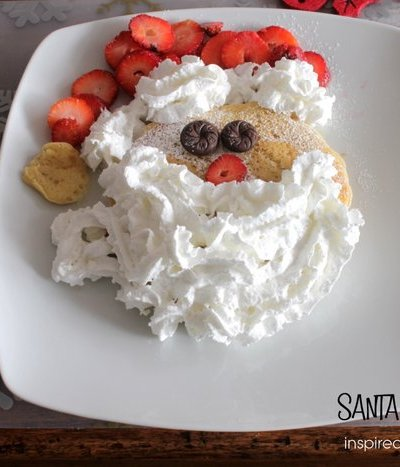 Fun Christmas Food: Santa Pancakes