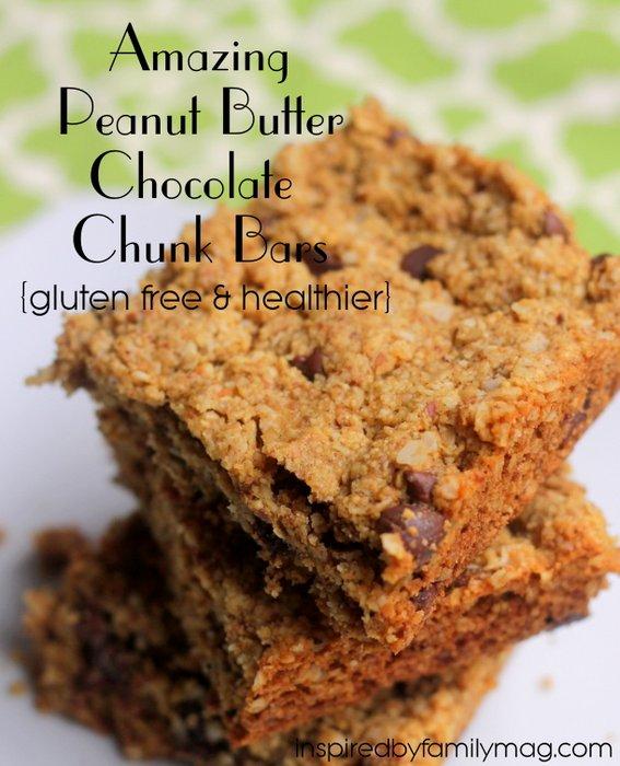 chocolate chunk cookie bars gluten free