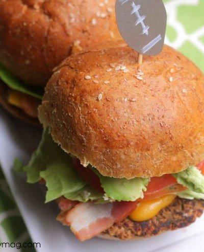 Game Day: Mini Black Bean Quinoa and Bacon Burgers