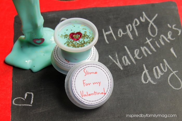 valentine slime party favor