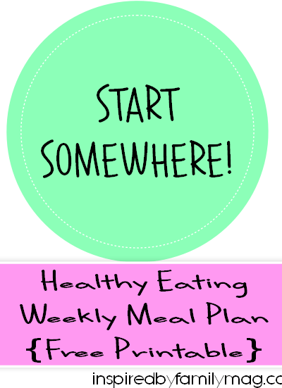 Healthy Eating Weekly Meal Plan