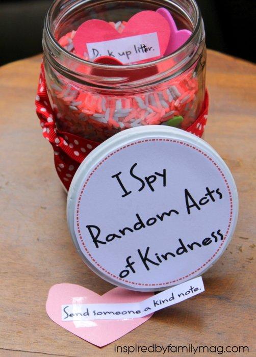 I Spy Random Acts Of Kindness Jar