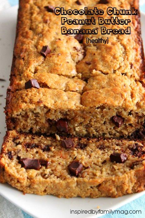 chocolate chunk banana bread healthy