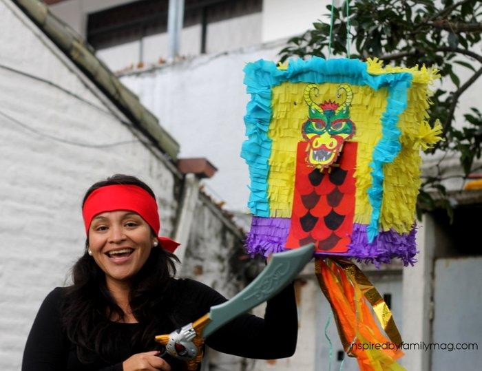 diy dragon piñata