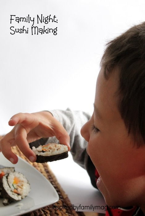 making sushi with kids