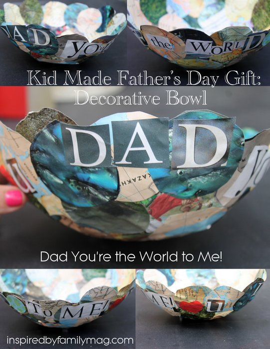 kid made father's day gift