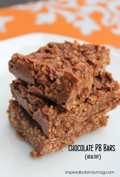 chocolate peanut butter bars  healthy