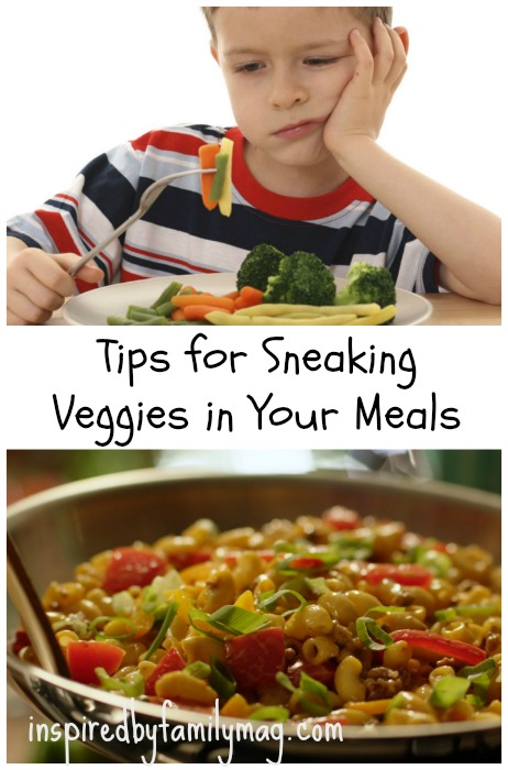tips for sneaking in veggies
