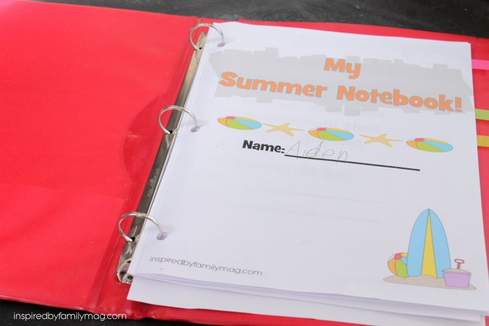 summer notebook pages