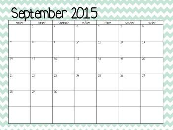 blank calendar 2