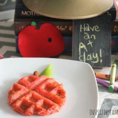 Back to School Breakfast Waffles