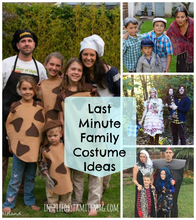 last minute family costume ideas
