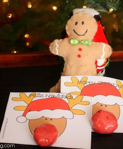 Christmas Party Favors: Rudolph Play Dough