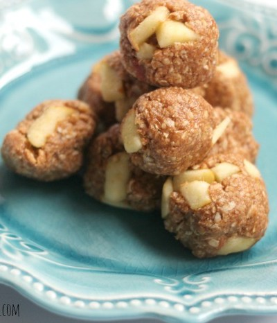 Healthy Snack Apple Cinnamon Balls