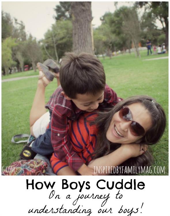 how boys cuddle