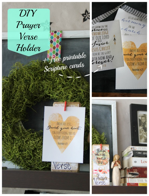 diy prayer verse holder