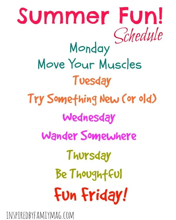 summer fun schedule blog size