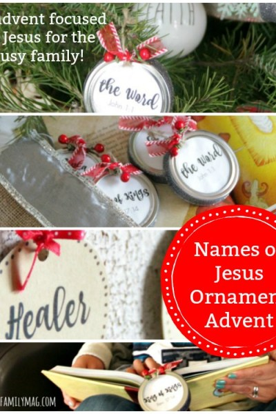 Simple & Fun Names of Jesus Christmas Ornaments Advent Calendar