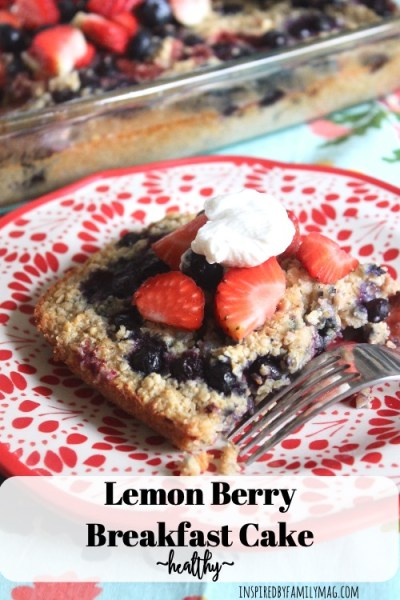 Amazingly Delicious Lemon Berry Breakfast Cake