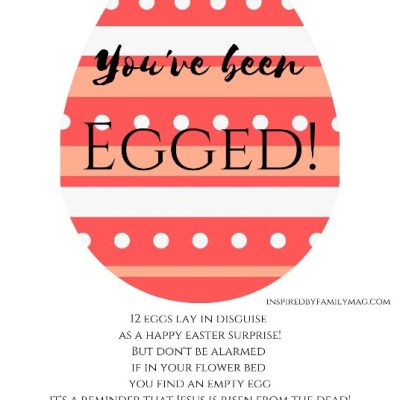 Christ-Centered You've Been Egged Easter Activity