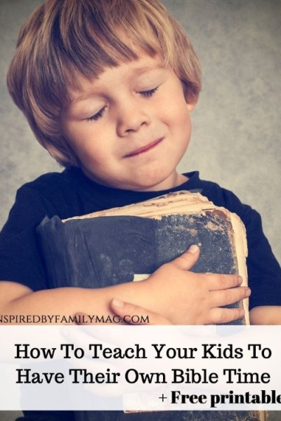 How To Teach Your Kids To Have Their Own Bible Time