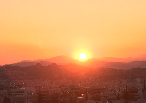 Sunset in Athens, Greece
