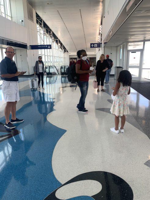 Social Distancing in Dallas International Airport