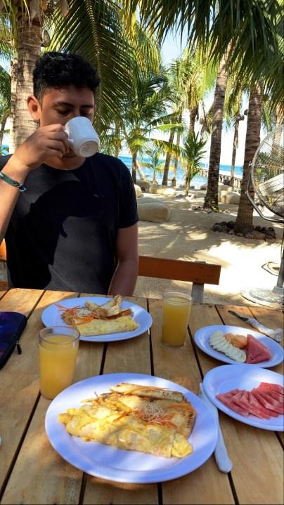 Breakfast at Nomads Hostel