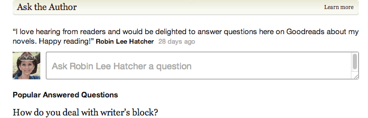 Ask the Author on Goodreads