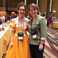 This reader is also an author and her gorgeous dress matches the one featured on her book's cover.