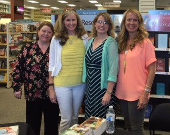 Julianna Deering, Anne Mateer, me, and Becky Wade.