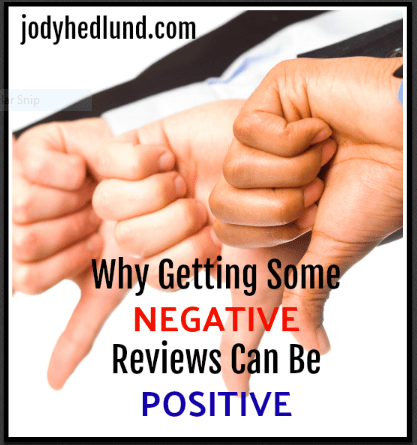 Why Getting Some Negative Reviews Can Be Positive