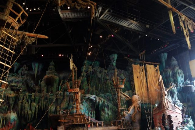 The Sindbad stunt show set – beautiful but sadly the show doesn't live up to the rest of the park