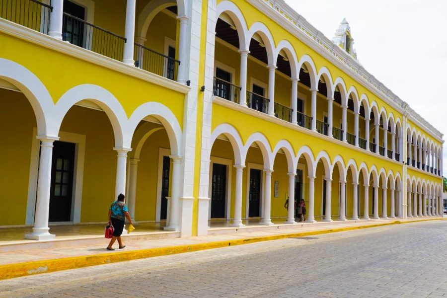 Old town of campeche city mexico