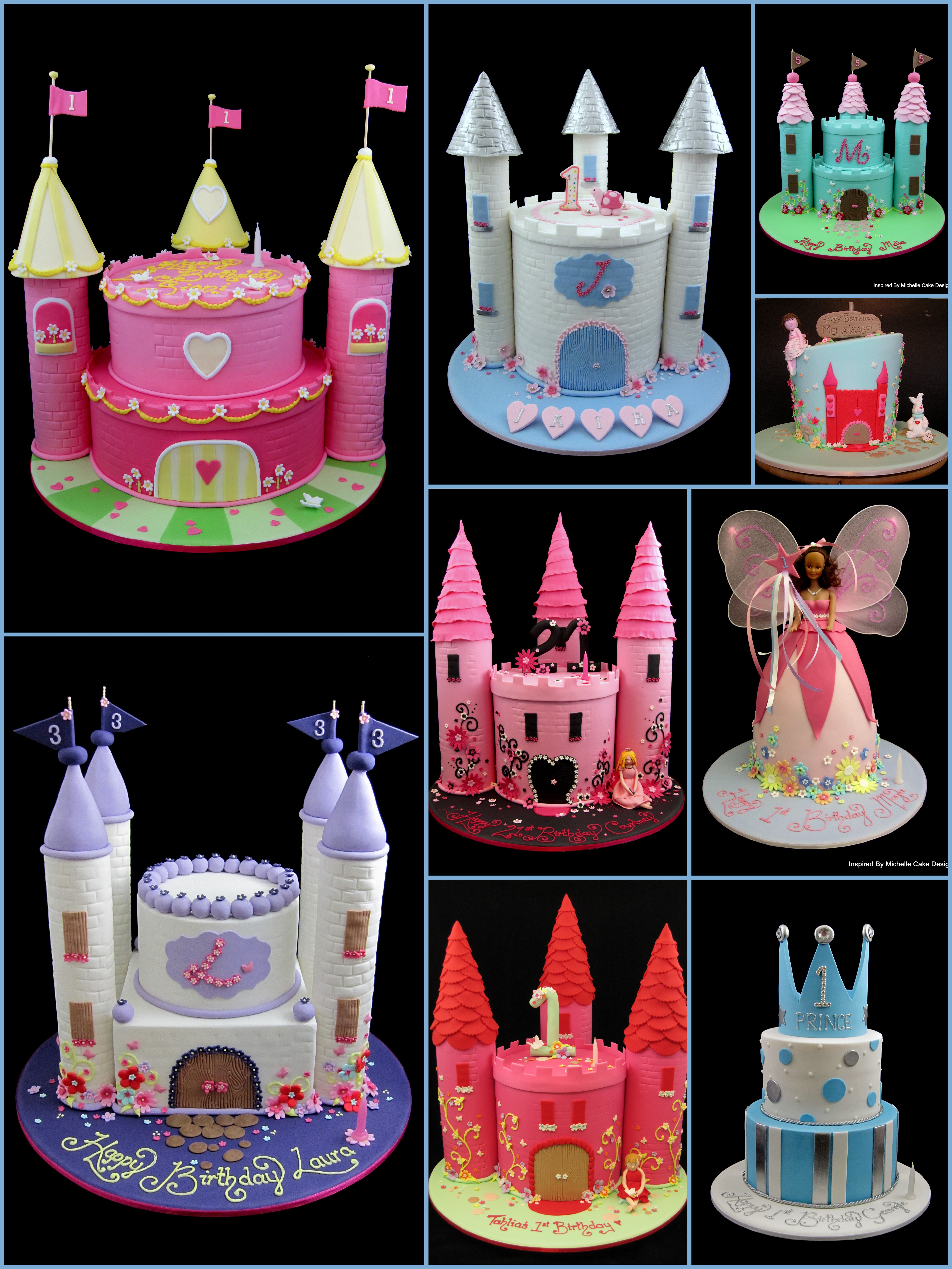Princess Castle Cake Collage For Ideas