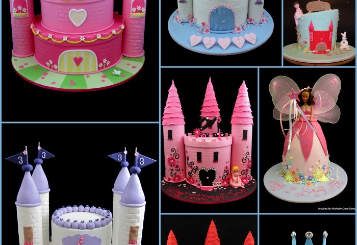 Princess Castle Cake Collage For Ideas Inspired By Michelle