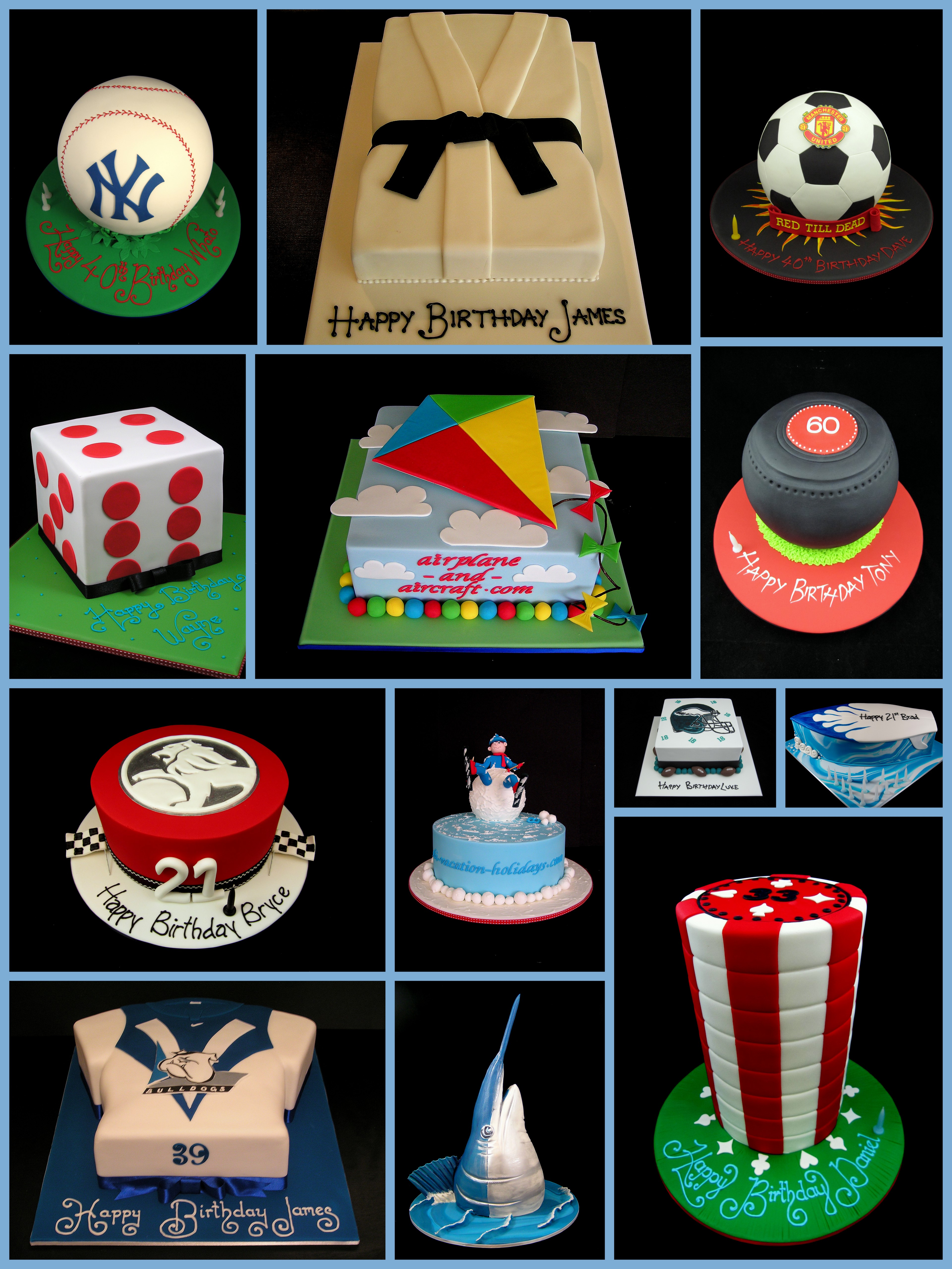 Sports Novelty Cakes Usually For Men