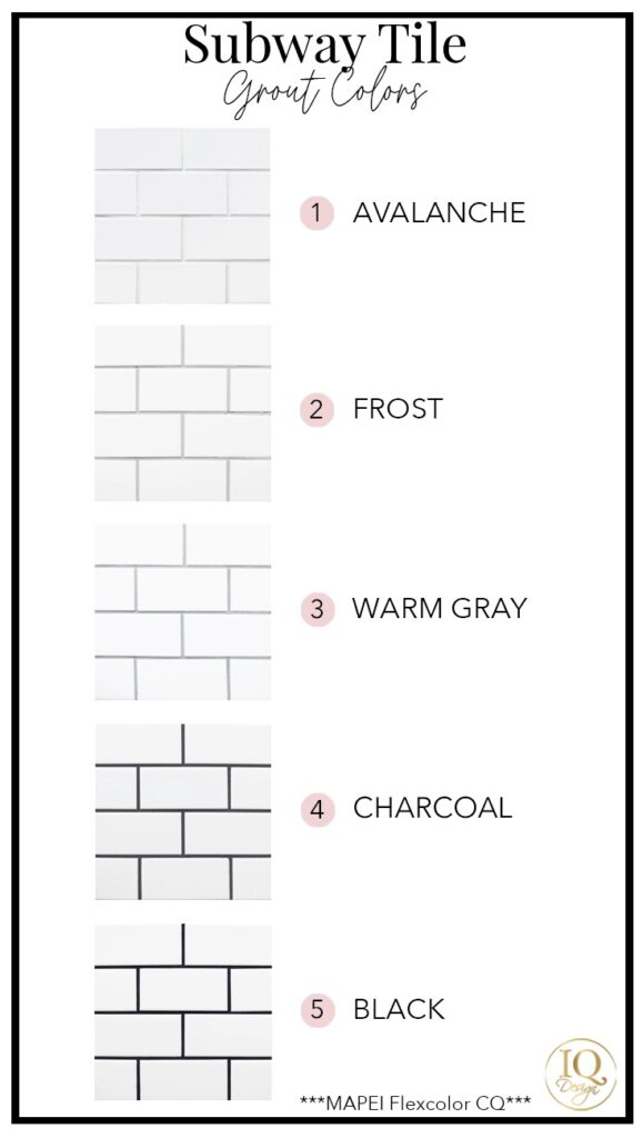 5 subway tile grout colors for your