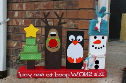 23+ Cool DIY Crafts Wooden Christmas Ideas (14)