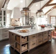 50+ Amazing Modern Farmhouse Kitchen Cabinets Decor Ideas 50