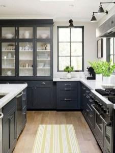 70+ Amazing Farmhouse Gray Kitchen Cabinet Design Ideas 06