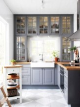 70+ Amazing Farmhouse Gray Kitchen Cabinet Design Ideas 08
