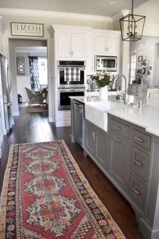 70+ Amazing Farmhouse Gray Kitchen Cabinet Design Ideas 13